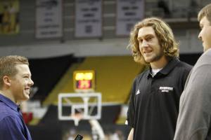 Milwaukee Panthers men's basketball forward Matt Tiby and I at 2013 Panther Media Day.